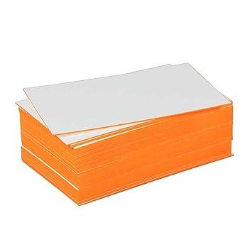 Blanko Visitenkarte Mit Farbschnitt Orange Amazon De