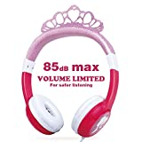 OneOdio Kids Safe Headphones – 85dB Volume Limited Headsets for Kids, Durable, Adjustable, Lightweight Headphones with 3.5mm Audio Jack, Christmas and Birthday Gift for Children and Girls. (Pink)
