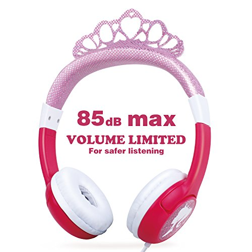 OneOdio Kids Safe Headphones - 85dB Volume Limited Headsets for Kids, Durable, Adjustable, Lightweight Headphones with 3.5mm Audio Jack, Christmas and Birthday Gift for Children and Girls. (Pink) (Player Princess Dvd)