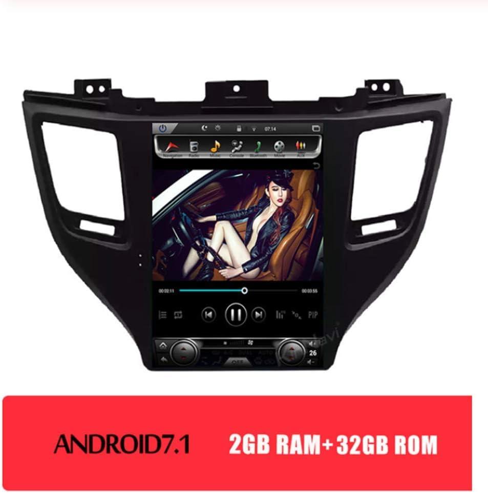 Coches Reproductor De DVD Para Hyundai Tucson 2014-2020 Con Android 8.1 10.4 Pulgadas 1 Din Coche MP5 4G Ayuda/Bluetooth/GPS/Espejo Reverso,2+32gb