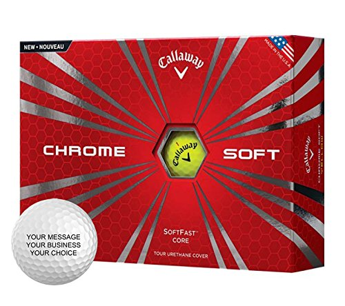 Callaway Chrome Soft Personalized Golf Balls - Add Your Own Text (12 Dozen) - Yellow