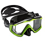 Cressi Pano 3 Mask, Lime Green/Black