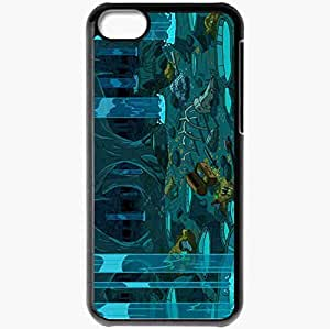 Personalized iPhone 5C Cell phone Case/Cover Skin Adventure Time Black