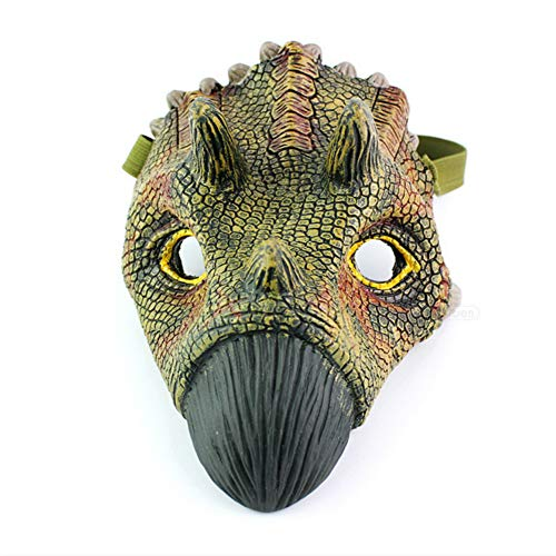 Halloween Dinosaur Mask,Figures Simulation Triceratops Mask,Latex Dinosaur Masks for Halloween Costume Party City,Jurassic World Dinosaur mask -