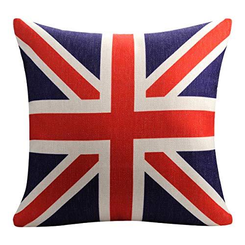 OnUpgo Throw Pillow CoverCotton Square Linen Home Sofa CouchDecorative Cushion Case 18