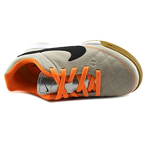 Nike JR TIEMPO GENIO LEATHER IC LT MAGNET GREY/VOLT-BLK-WHITE