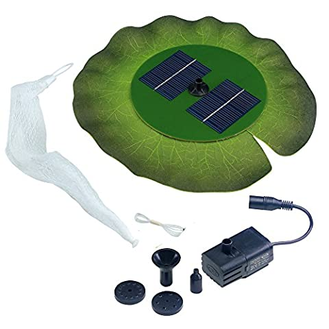Smart Solar 24402R01 Aquatic Range Floating Lily Solar Fountain Powered By An Included Solar Panel That Operates An Integral Low Voltage Pump With Filter, Includes 3 Different Fountain - Smart Solar Fountain