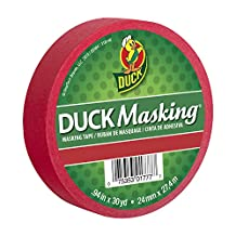 """Duck Masking 240818 Red Color Masking Tape, .94"""" by 30 yd"""