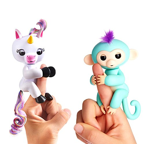 New  2 Pack   Premium Finger Interactive Monkey Full Function   New Interactive Baby Unicorn Finger Toy Finger Puppets Not Fingerlings