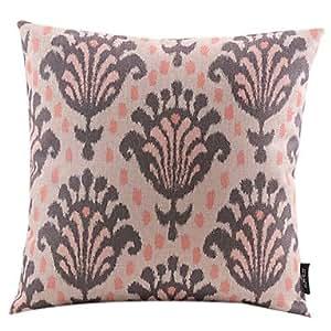 SKT delfini/decorativa de la funda de almohada de lino de algodón con diseño de flores