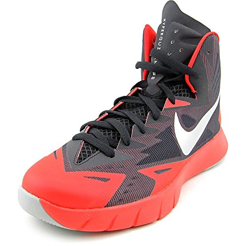 Nike Mens Lunar Hyperquickness Basketball Shoe (9.5 D(M) US, Black/Wolf Grey/Universtiy Red) (High Red Grey Tops And Nike)