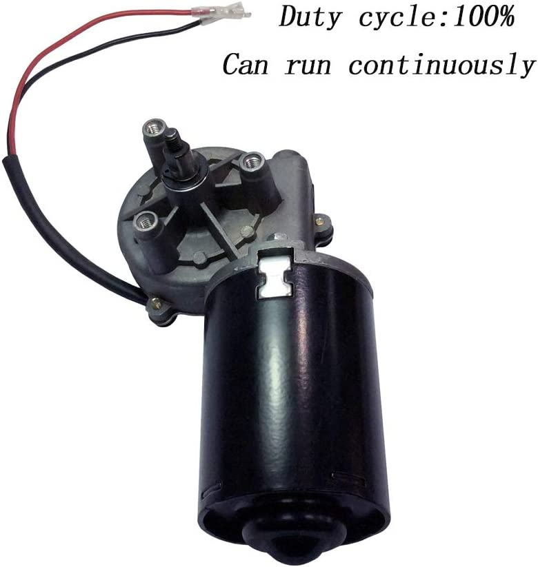BEMONOC Garage Door Motor 12V DC Right Angle Reversible Electric Gear Motor 45 RPM High Torque