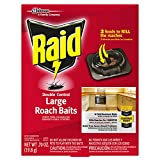 Raid Double Control, Large Roach Baits, 8 CT (Pack - 6)