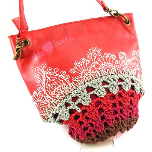 "Bolsa 'french touch' ""Desigual"" rojo."