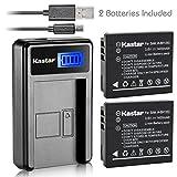 Kastar Battery (X2) & LCD USB Charger for Samsung IA-BH125C Ricoh DB-65...