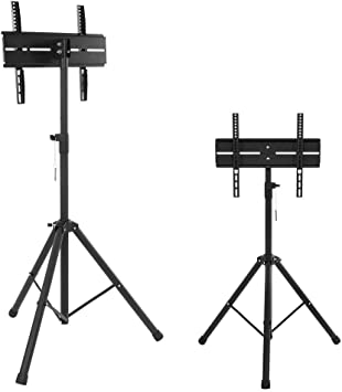 Estink - Soporte trípode para televisor portátil (altura regulable, para pantalla plana de 26