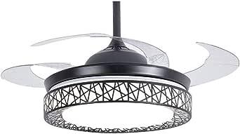 Moerun Ventilador de techo de 42 pulgadas con luz 4 aspas ...