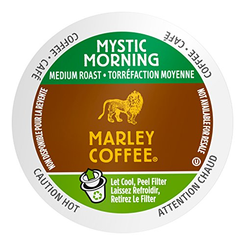 Marley Coffee Mystic Morning, Medium Roast, Single Serve, 24 Count
