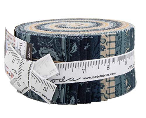 Regency Sussex Jelly Roll 40 2.5-inch Strips by Christopher Wilson-Tate for Moda Fabrics ()