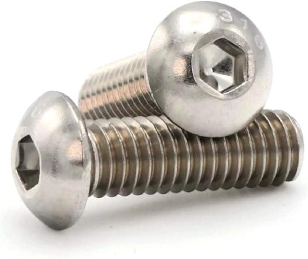 316 Stainless Steel Button Head Socket Cap Screws #4-40 x 1//4 Qty 100