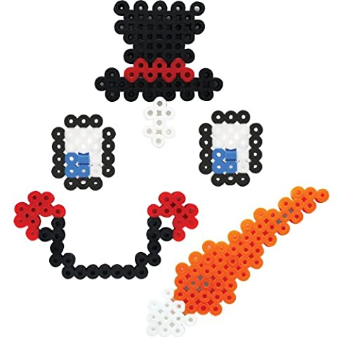 Perler Beads Biggie Bead Fused Bead Kit, Decorate a Snowman