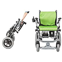 YOLANDEK The lightest & Most Compact Powered Wheelchair in The World - Ultra Portable Folding Power Wheelchair - Weights Only 35 lbs(Including 10A Lithium Battery) - 18 Seat Width