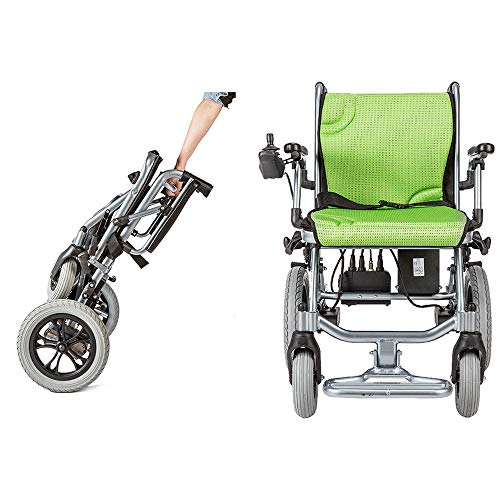 - YOLANDEK The lightest & Most Compact Powered Wheelchair in The World - Ultra Portable Folding Power Wheelchair - Weights Only 35 lbs(Including 10A Lithium Battery) - 18