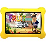 Wopad 7inch Kids Tablet Google Android 4.4 Quad Core Multi-Touch Screen 8GB Hard Drive Pre-installed Games and Apps, Google Play Store, Kids Desktop etc (ZeepadKids-Yellow-4GB)