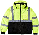 Bomber J26002.XL Jacket with 2'' Silver Reflective Tape, Size X-Large, Fluorescent Yellow/Green/Black