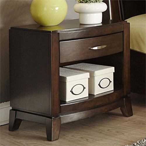 "Price comparison product image Liberty Furniture 505-BR60 Avalon Night Stand,  24"" x 17"" x 25"",  Dark Truffle"