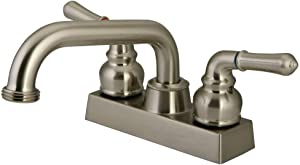 "Kingston Brass KB2478NML Laundry Faucet, 5-3/4"", Brushed Nickel"