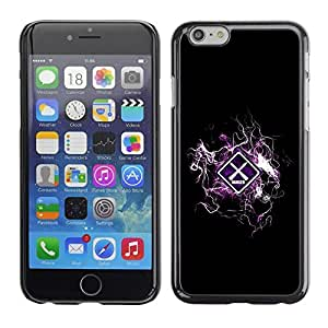 LECELL -- Funda protectora / Cubierta / Piel For Apple iPhone 6 Plus 5.5 -- Cool Design Danger Warning --