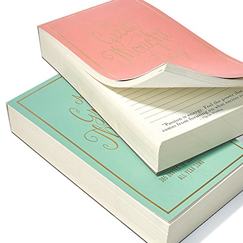 Eccolo World Traveler Thought A Day Notepad, Sea foam (T609A) Photo #2