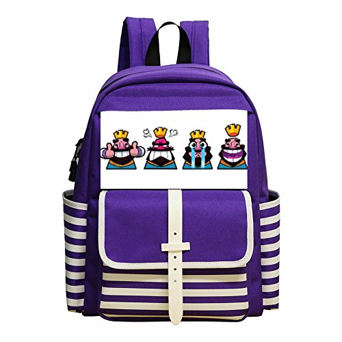 Price comparison product image BAO-DAN2 Kid's Toddler Clash Royale Emotions and emotions School Bag Backpack Bookbag purple