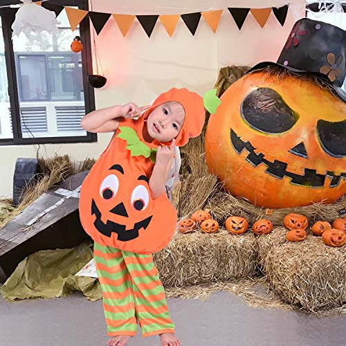 Toddler Girl Halloween Pumpkin Costume Suit Boys