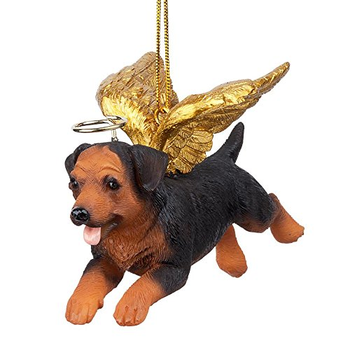 - Christmas Tree Ornaments - Honor The Pooch Rottweiler Holiday Angel Dog Ornaments