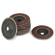 4-inch x 5/8-inch Sanding Flap Disc Grinding Wheel 320 Grit 10 Pcs