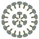 uxcell M8 x 20 x 30mm Screw on Furniture Glide Leveling Feet Floor Protector Adjustable Leveler for Table Leg 24 Pack
