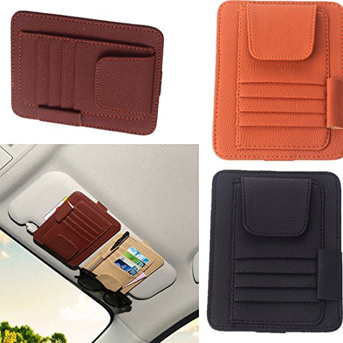 KANG--Sunglasses Bill Pen Holder Clip Cars Styling Sun Visor Glasses Credit Card - Best Sunglasses Compare