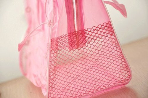 Jdbuy Multipurpose Floral Crystal Comestic Makeup Beauty Storage Travelling Bath Bag (Pink)