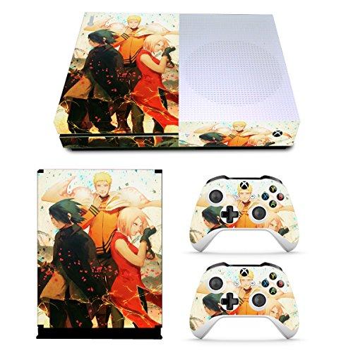 (EBTY-Dreams Inc. - Microsoft Xbox One Slim - Naruto Gaiden Anime Team 7 Uchiha Sasuke Haruno Sakura Vinyl Skin Sticker Decal Protector)