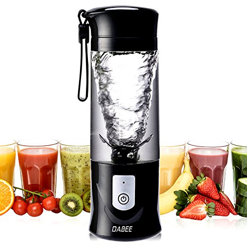 Personal Blender with Travel Jar, Smoothie Maker and Juicer, Portable Single Serve for Shakes and Smoothies; Powerful and Fast, 14.3oz/420ml, BPA free and FDA certified, 6 Blades, Black, Latest