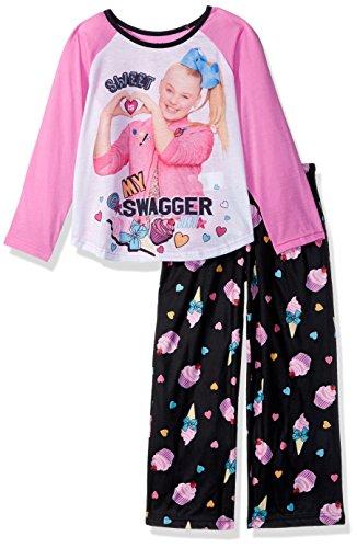 Nickelodeon Girls' Little JoJo 2-Piece Pajama Set, Sweets Swagger, 4