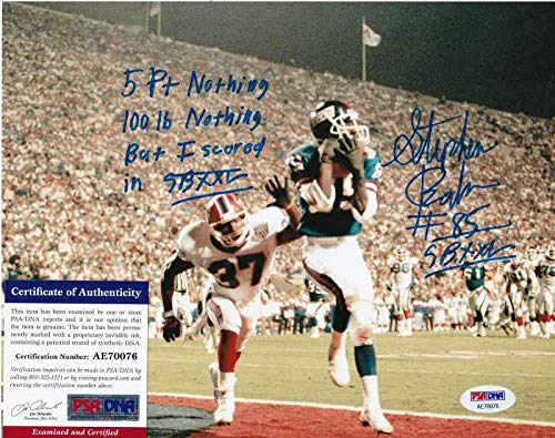 - STEPHEN BAKERS NEW YORK GIANTS SB XXL AUTHENTICATED ACTION SIGNED 8x10 - PSA/DNA Certified - Autographed NFL Photos