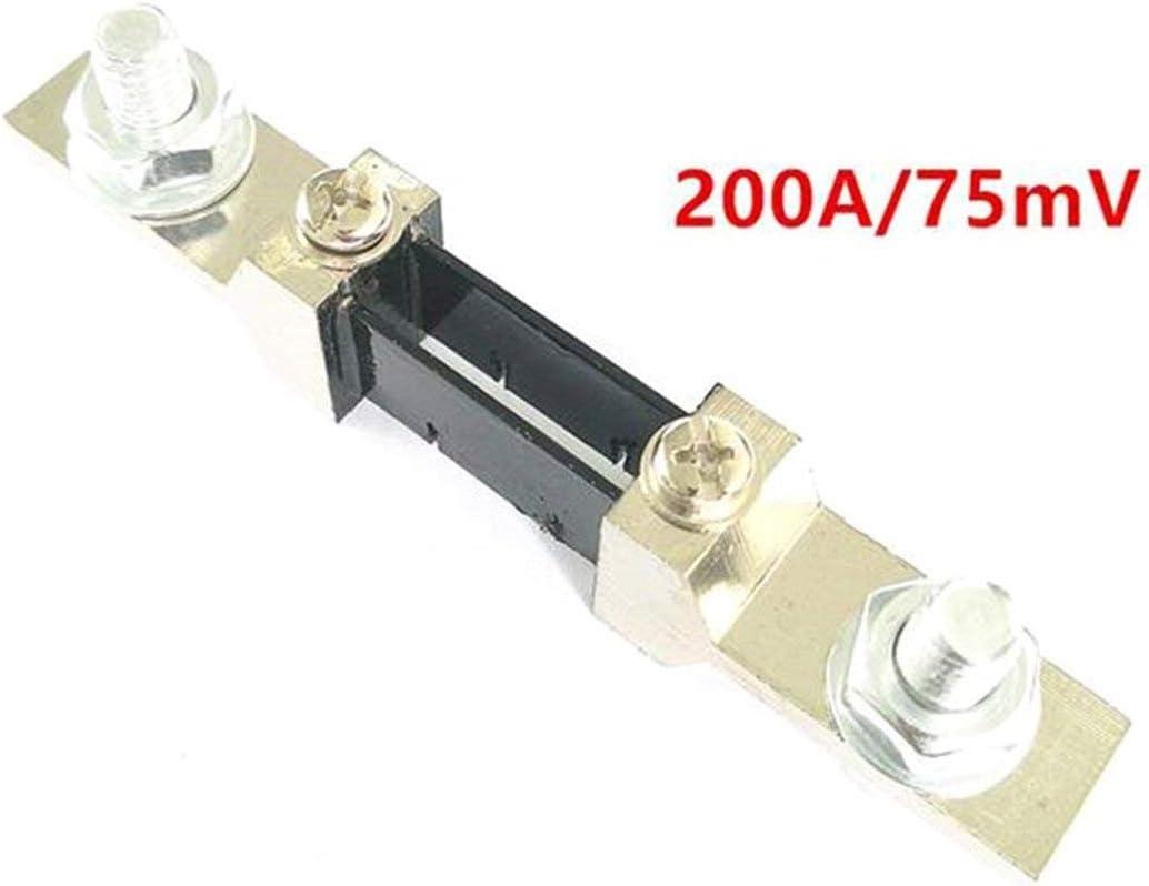 Togames FL-2 50A//100A//200A 75MV DC Current Shunt Resistor Panel for Digital Amp Meter Ammeter Class 0.5 Current Shunt Resistor