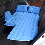 STAZSX Recumbent car inflatable bed car mattress travel bed children's rear row sleeper car suv air cushion, blue-135x78CM