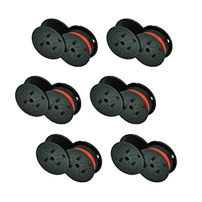 myCartridge 6 Pack Compatible Calculator Spool GR24 Black/Red Ink Ribbons by myCartridge