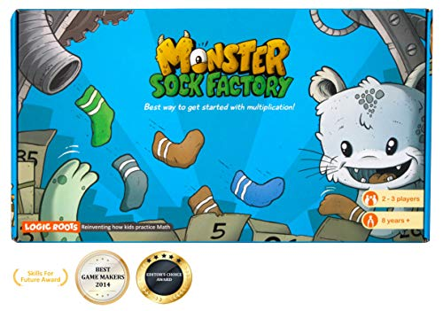 LogicRoots Monster Sock Factory First Step to Multiplication Montessori Toy Math Manipulative