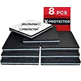 Non Slip Furniture Pads X-PROTECTOR -Premium 8 pcs 4' Furniture Pad! Best SelfAdhesive Furniture Grippers Rubber Feet Couch Stoppers -Ideal Furniture Floor Protectors Furniture Feet for Fix Furniture