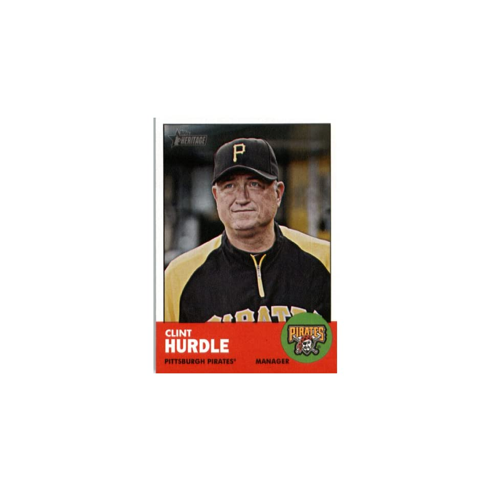 2012 Topps Heritage 393 Clint Hurdle MG   Pittsburgh Pirates (Manager)(Encased MLB Trading Card) Sports Collectibles